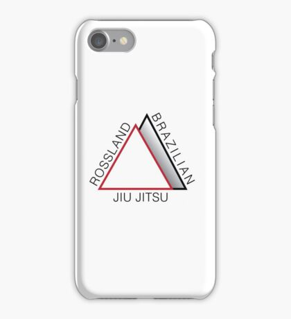 Rossland BJJ logo - Black text iPhone Case/Skin