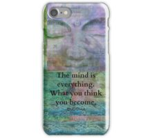 Motivational Buddhist quote art iPhone Case/Skin