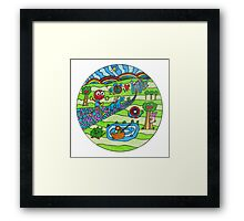 Psychedelic Circle Framed Print