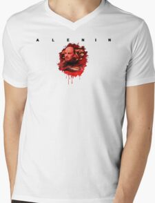ALENIN Mens V-Neck T-Shirt