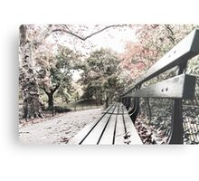 Bench in the Park Metal Print