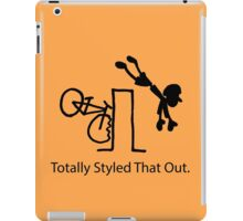 "MTB Cycling Crash ""Styled That Out"" Cartoon iPad Case/Skin"