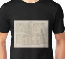 0644 Ptolemaeer Ptol XI Alexander I Edfu Idfû a Südwand des Vorhofes b Innere und Aeussere Nordwand der Ringmauer Unisex T-Shirt