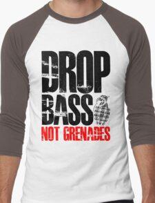 Drop Bass Not Grenades (black/red) Men's Baseball ¾ T-Shirt