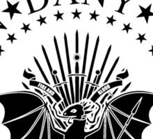 DRAGONES black Sticker
