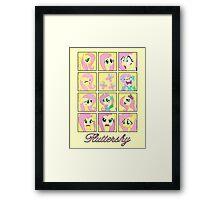 Faces of Fluttershy Framed Print