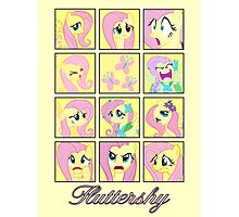 Faces of Fluttershy Photographic Print