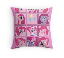 Faces of Pinkie Pie Throw Pillow