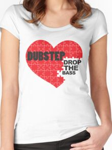 Drop the Bass Puzzle  Women's Fitted Scoop T-Shirt