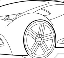 Future Wheels wire frame design Sticker