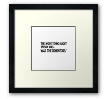 The office US Michael Scott funny quote Framed Print