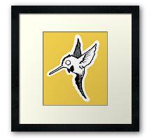Wide Eyed Hummingbird Framed Print