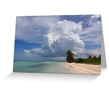 Cayo Guillermo beach Greeting Card