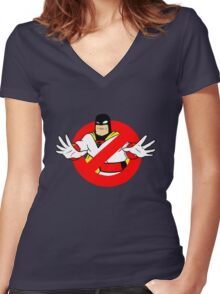 Space Bustin' Women's Fitted V-Neck T-Shirt