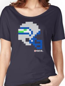 Tecmo Bowl - Seattle - 8-bit - Mini Helmet shirt Women's Relaxed Fit T-Shirt