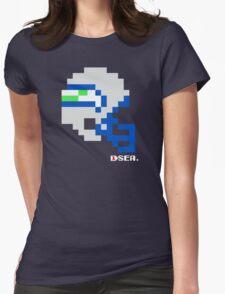 Tecmo Bowl - Seattle - 8-bit - Mini Helmet shirt Womens Fitted T-Shirt