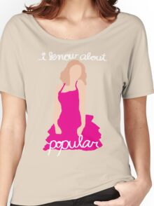 """I Know About Popular"" Galinda, Wicked Women's Relaxed Fit T-Shirt"