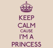 Keep Calm cause I'm a Princess (Purple) by OhMyDog