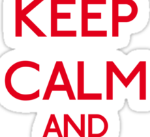 Keep Calm and be a Belieber (Red) Sticker