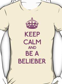 Keep Calm and be a Belieber (Purple) T-Shirt