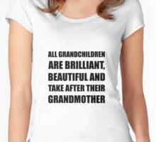Grandchildren Brilliant Grandmother Women's Fitted Scoop T-Shirt