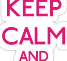 Keep Calm and be a Belieber (Pink) Sticker