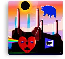PINK FLOYD ECLIPSED BATTERSEA Canvas Print