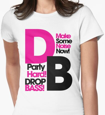 DB drop bass Womens Fitted T-Shirt