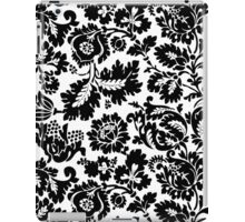 Black and White Damask Floral Bold Pattern iPad Case/Skin