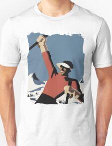 Skiing the slopes Unisex T-Shirt