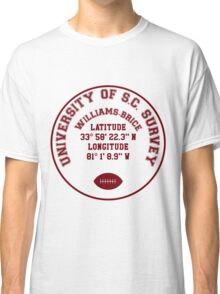 Williams-Brice Stadium, University of South Carolina Benchmark (red text) Classic T-Shirt