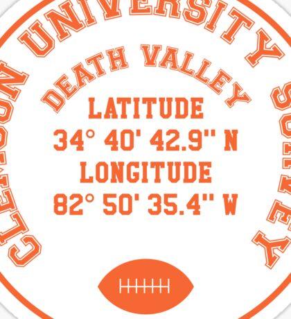 Death Valley, Clemson University (orange text) Sticker