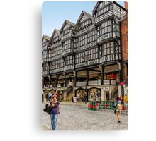 Shopping in Chester, England Canvas Print