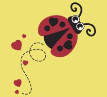 Love bug ladybug / ladybird red Kids Tee