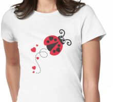 Love bug ladybug / ladybird red Womens Fitted T-Shirt