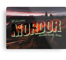 Welcome to Mordor Metal Print