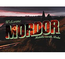 Welcome to Mordor Photographic Print