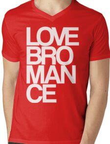 Love Bromance (white) Mens V-Neck T-Shirt