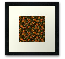 Gothic Autumn Floral Pattern Framed Print