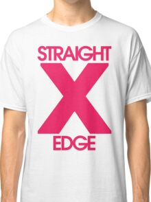 Straightedge (magenta) Classic T-Shirt