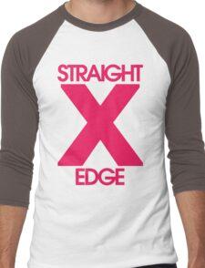 Straightedge (magenta) Men's Baseball ¾ T-Shirt