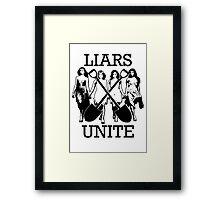 LIARS UNITE (no glow) Framed Print