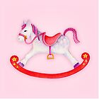 Rocking horse watercolour art by Sarah Trett