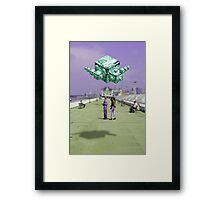 heads up for your new god Framed Print
