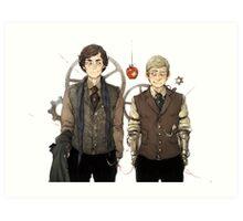 BBC Sherlock: Steampunk Detectives Art Print