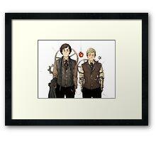 BBC Sherlock: Steampunk Detectives Framed Print