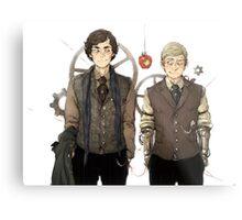 BBC Sherlock: Steampunk Detectives Metal Print