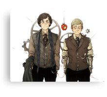 BBC Sherlock: Steampunk Detectives Canvas Print