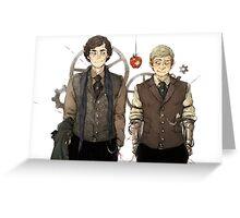 BBC Sherlock: Steampunk Detectives Greeting Card