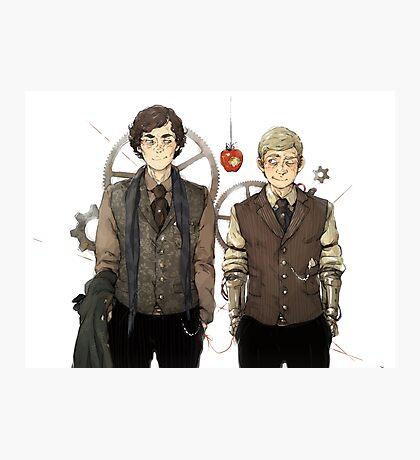 BBC Sherlock: Steampunk Detectives Photographic Print